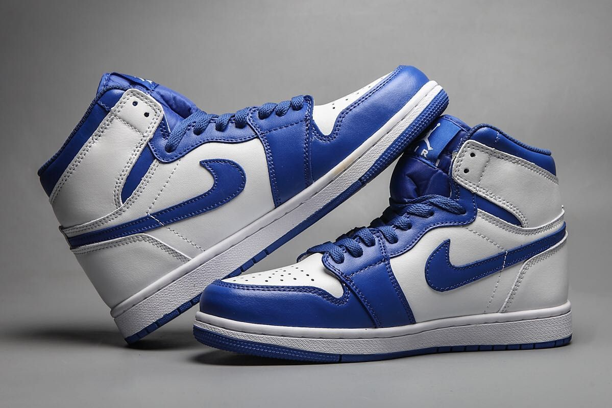 New Air Jordan 1 Retro White Blue